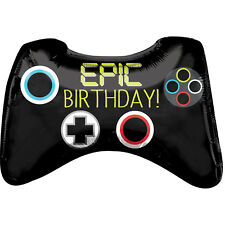 """28"""" SUPERSHAPE EPIC GAME CONTROLLER XBOX BIRTHDAY FOIL HELIUM PARTY BALLOON 804"""
