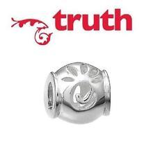 TRUTH PK 925 sterling silver filigree swirl charm bead