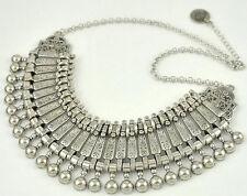 Fine Antique Silver Bohemian Style Gypsy Long Pendant Statement Necklace Boho