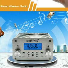 NIORFNIO 15W PLL FM Transmitter Radio Stereo Bluetooth Wireless Broadcast USA!