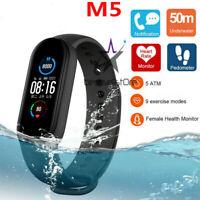 M5 Smart Band Watch Heart Rate Bracelet Wristband Fitness Tracker Blood Pressure