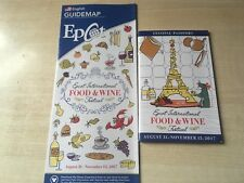2017 Florida Walt Disney World EPCOT Food & Wine Festival Souvenir Passport +Map