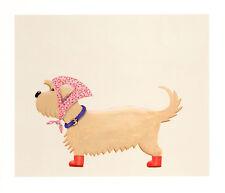 DANDIE DINMONT TERRIER COMIC DOG FINE ART PRINT - Mustard DDT - Dandy