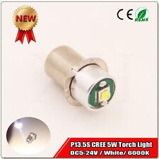 1X PR / P13.5S Maglite Torch LED upgrade Flashlight bulb lamp 5W DC 5V 24V White