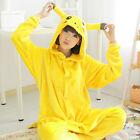 Unisex Adults/Kids One Piece Kigurumi Pajamas Cosplay Costume Pikachu Sleepwear