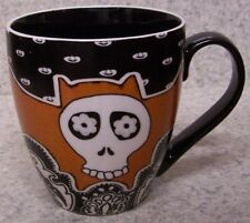 Coffee Mug Day of the Dead White Skull NEW 20 ounce cup with gift box