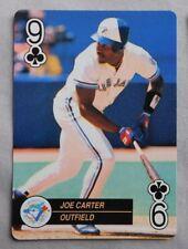 1992 MLB Playing Card Nine of Clubs Joe Carter Blue Jays