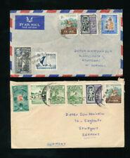 Ceylon-Sri Lanka, 2 Briefe aus Kalutara North nach Stuttgart  (H41)