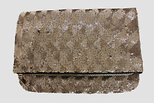 MONSOON ACCESSORIZE Gold Embellished Fully Sequin Fold Over Purse Clutch Bag