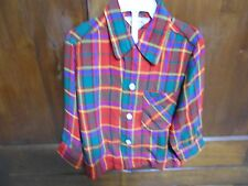BOY'S VINTAGE RED PLAID FLANNEL SHIRT