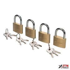 Silverline 675152 Brass Padlocks Keyed Alike 4 Pack 40mm