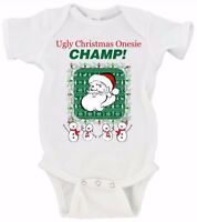 Ugly Onesie Champion Crazy Ugly Sweater Merry Christmas Gerber Onesie