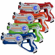Kidzlane Laser Tag | Laser Tag Guns Set of 4 | Multi Function Lazer