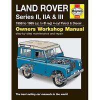 New Haynes Manual Land Rover Series 2, IIA & III 3 58-85 Workshop Repair 88 109