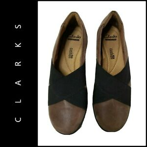 Clarks Medora Jem Women Slip-On Comfort Loafers Leather Shoes Size 6 M Brown