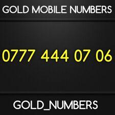 GOLD 0777 GOLDEN EASY VIP DIAMOND PLATINUM 0777 MOBILE NUMBER 07774440706