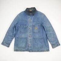 Vtg Big Ben Wrangler Blanket Lined Denim Chore Jacket / Coat USA Workwear sz 42