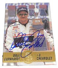 Dale Earnhardt 1995 PRESS PASS VIP VINTAGE NASCAR RARE #1 CHEVY autographed card