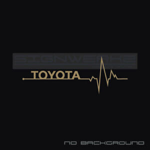 Toyota Heart Beat Pulse Decal Camry Yaris vvti TRD Racing FR-S XLE V6 Pair