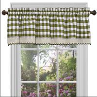 Achim Buffalo Check Decorative Window Treatment Valance Sage 58 x 14