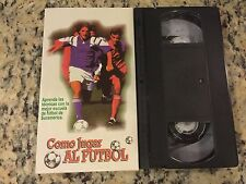 COMO JUGAR AL FUTBOL RARE VHS! NOT ON DVD SPANISH SOCCER INSTRUCTION TRAINING!