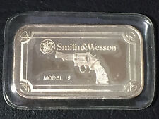 MODEL 19 Smith & Wesson 1 Ounce .999 Fine Silver Art Bar SEALED Q8