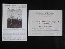 Paysages Français 2 cartons Gal. Lefranc & Engrand & Briant Robert H. Rousseau