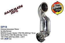 "Downpipe 3"" 76mm für Alfa Romeo Brera Coupé /Spider 1750 TBi mit HJS Katalysator"