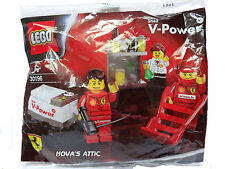 LEGO FERRARI SHELL V-POWER 30196  3 MINIFIGURES NEW POLY BAG BRAND NEW