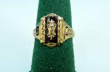 BEAUTIFUL JOSTEN 10K YELLOW GOLD 1961 J M HIGH SCHOOL CLASS RING SZ 7.25 GR 4.4