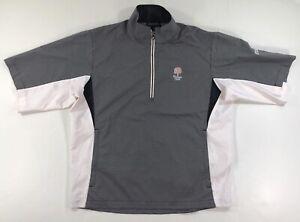 Footjoy Dryjoys FJ Golf Hydrolite Rain Shirt Mens Medium Black White 1/4 Zip
