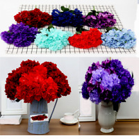 Hydrangea Silk Bunch Artificial Flower Wedding Bouquet Decor 6 Heads Home