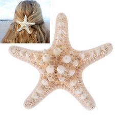 2 x Real Starfish Hair Clips Sea Shell Mermaid Boho Star Fish Beach Festival Hot
