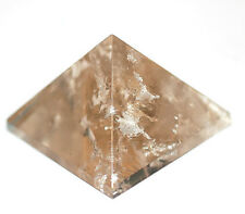 Smoky Quartz (Pale) Pyramid 35mm base - Grounding,Manifest ones dreams #9427
