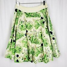 Viola Womens 6 Field Found Floral Dandelion Meadow Cotton Linen Lined Skirt