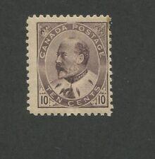 1903 Canada 10 Cent Brown Lilac Stamp Scott #93 King Edward VII CV $425