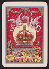 1 Single ANTIQUE Playing/Swap Card OLD WIDE DOVES CROWN END BOER WAR 1902 Gold