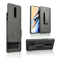 for OnePlus 7 Pro Belt Clip Holster Case with Tempered Glass Screen Protector