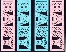 Retired NLA Baby Boy Girl Pink Blue Title Delicate Mrs Grossman Stickers