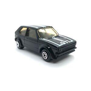 Maisto Volkswagen VW Golf GTI Car Black Die Cast 1/64 Loose Working Suspension