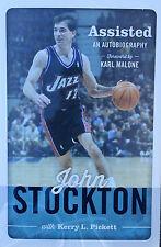 John Stockton Signed ( Assisted ) 1/1 Hardback Book JSA