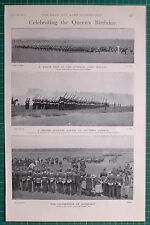 1900 BOER WAR QUEENS BIRTHDAY CURRAGH CAMP MARCH MILITARY PARADE MARINES RESERVE