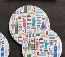 Design Ideas New York City Landmark Icon Coasters Set of 10 Hostess Host Gift
