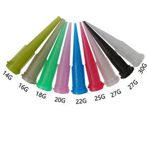 50 PCS TT Blunt Glue Liquid Dispenser Dispensing Needle Plastic Tapered Tips DE
