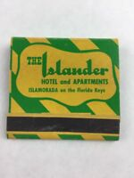 Matchbook The Islander Hotel & Apartments Florida Keys w/ Sticks Collectible