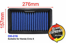 High-Flow Drop-in Stock Replacement Simota Air Filter for Honda Civic 8, OH-016