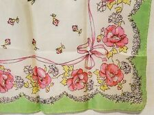 Vintage Silk Scarf - bows & flowers