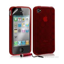 Housse étui coque en gel transparent pour Apple Iphone 4/4S motif rond couleur r