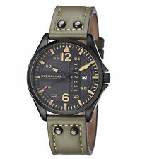 Stuhrling Original Men's 699.03 Japan Quartz Luminous Hands Aviator Watch