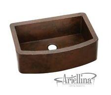 "36"" Ariellina Farmhouse 14 Gauge Copper Kitchen Sink Lifetime Warranty AC1916"